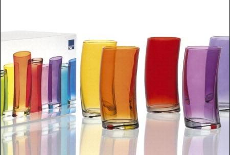 Set 6 Bicchieri Leonardo Swing bibita rosso