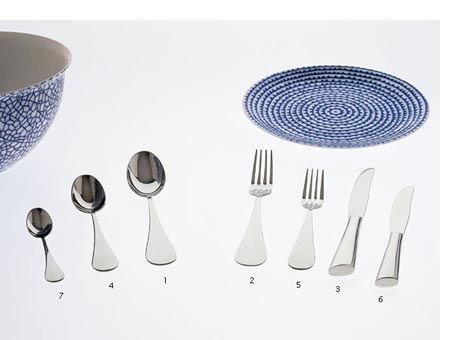 Cucchiaio tavola Driade Kosmo Paloma