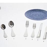 Forchetta tavola Driade Kosmo Paloma