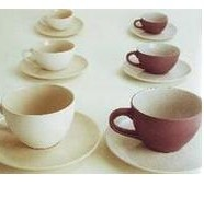 Tazza caffe' con piattino Cierre Brest grigio viola