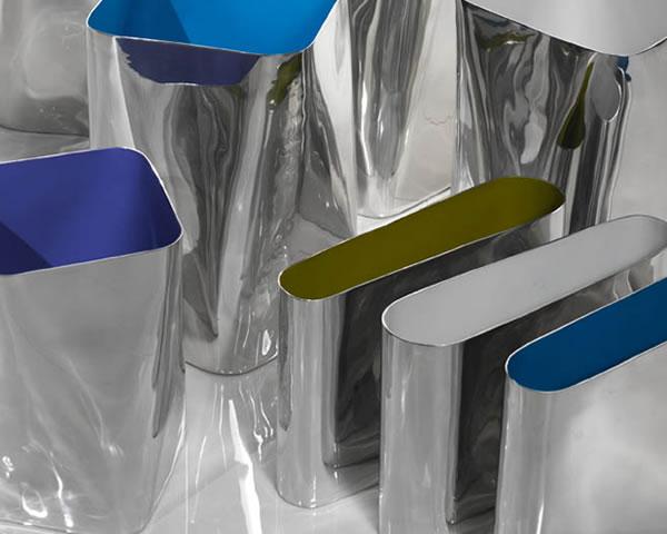 Portariviste alluminio Cierre Tour bianco