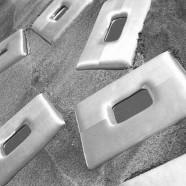 Specchio con cornice alluminio