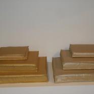 Set 3 cuscino quadrato Cierre oro