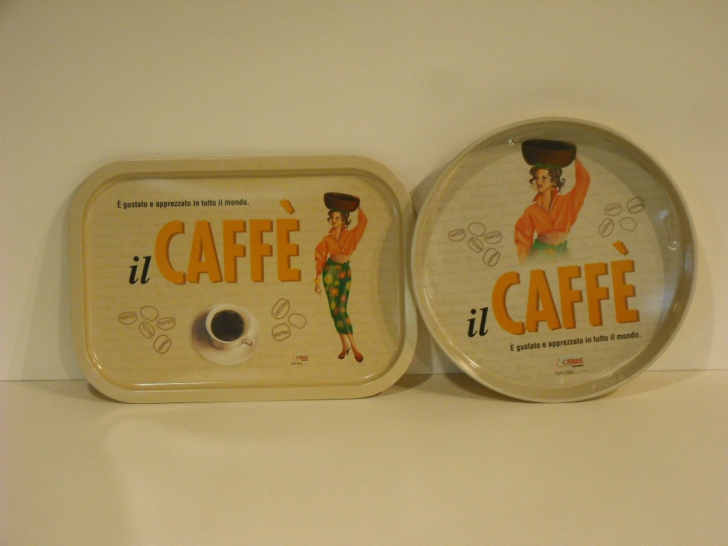 Vassoio latta Cierre il caffè