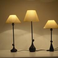 Set 3 lampada bronzo Claire