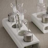 Menage oliera Rettangolare 2 ampolle Box bianco Cierre