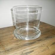 Vaso vetro/Portacandela vetro RICCO h.18 Leonardo