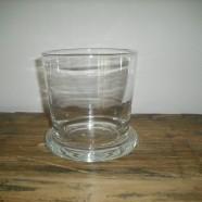 Vaso vetro/Portacandela vetro RICCO h.15 Leonardo