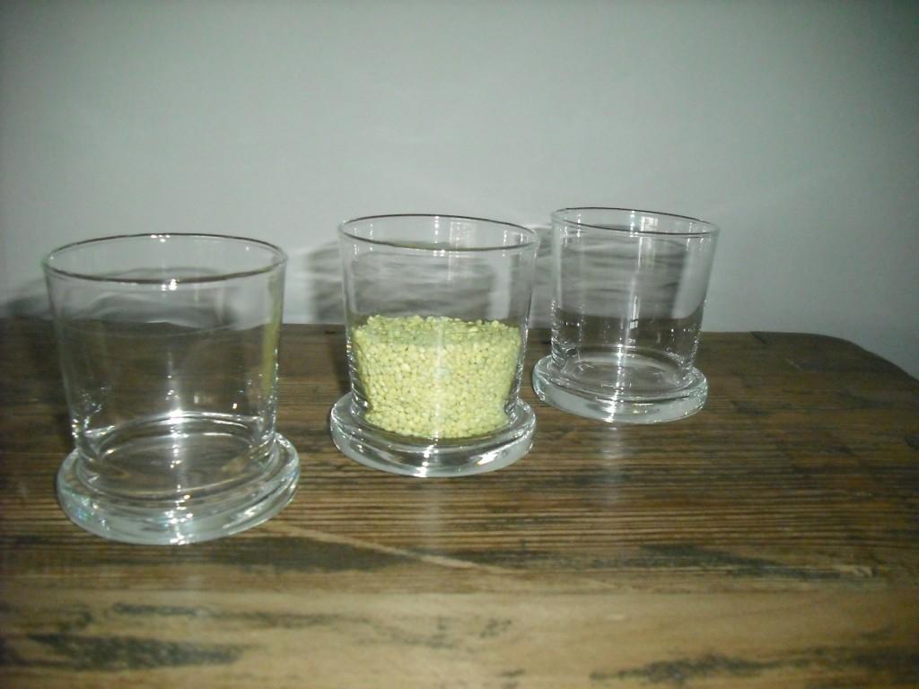 Vaso vetro/Portacandela vetro RICCO h.7.5 Leonardo