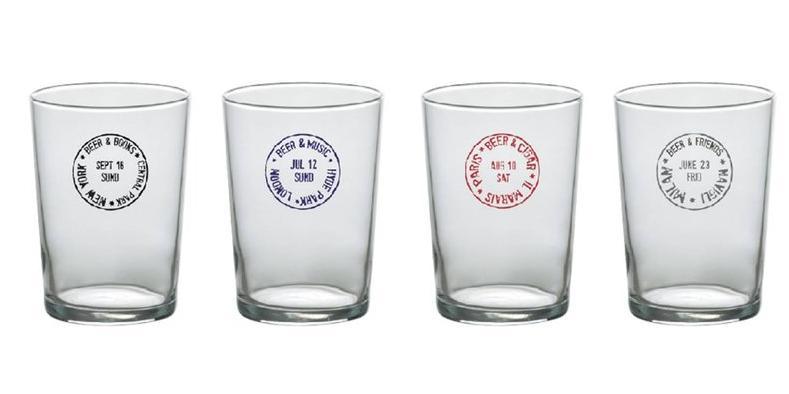 Set 4 Bicchieri Birra Travel Bitossi Parigi – New York – Milano – Londra