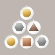 Sfere Natale Elementi D.10 – Set 4 pezzi Bitossi