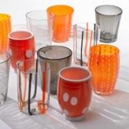 MELTING POT Zafferano Set 6 Bicchieri ARANCIO/GRIGIO