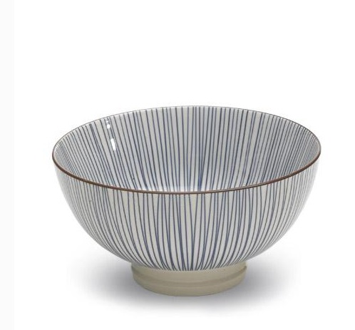 TUE Zafferano Set 6 Bowl Media Righe BLU
