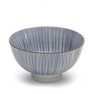 TUE Zafferano Set 6 Bowl Piccola Righe BLU