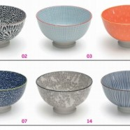 TUE Zafferano Set 6 Bowl Micro Righe Blu