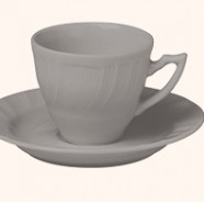 Set 6 tazze caffè con piattino Romantic Tortora Bitossi Home